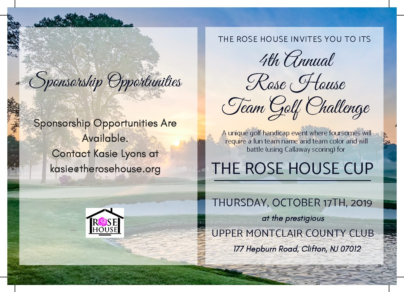 Golf Outing – The Rose House
